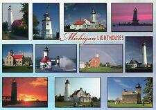Michigan Lighthouses, Tawas Point, Cheboygan Range etc. MI - Lighthouse Postcard