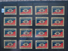 16 VARIOUS BRYANT MAY CROWN SAFETY MATCH BOX 50 LABELS 1950 ROAD FIRE SAFETY No3