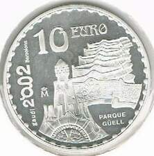 Spanje 10 euro 2002 Proof zilver PP: Gaudi - Parque Guell