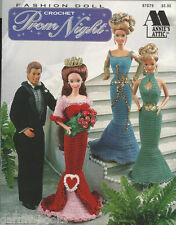 Prom Night Crochet Fashion Doll Dress Tuxedo Formal Queen Clothing Patterns NEW