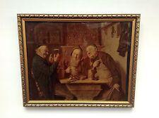 """LATE 19thC CRYSTOLEUM ENTITLED """"IM BRAEUSTUEBL"""" - SIGNED E. VON GRUTZNER   (215)"""