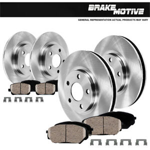 Front and Rear Brake Rotors and Ceramic Pads For 2017 2018 2019 Acura MDX
