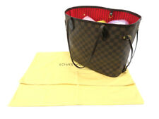 LOUIS VUITTON N51105 DAMIER EBENE NEVERFULL MM TOTE HAND BAG USED