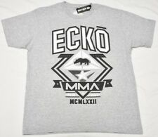 Ecko Unltd T-Shirt Men's Size L MMA Logo Graphic Tee Grey Urban Streetwear N953