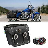 Motorrad Schwarz Satteltasche Gepäcktaschen Werkzeugtasche für Harley Chopper