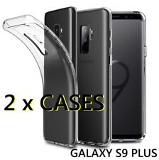 2 x Pieces - Transparent Clear TPU Rubber Case Cover for SAMSUNG GALAXY S9+ PLUS