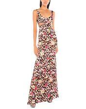 Roberto Cavalli Dress Leopard Cutout Maxi Silk Full Length Bustier Ikat $2395 42