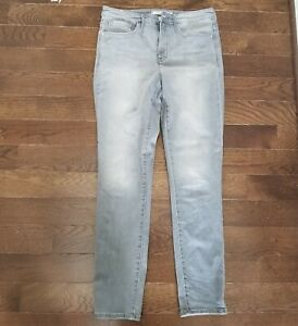 Athleta Sculptek Skinny Jeans Gray Quartz Wash Size 12