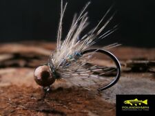 10 Hare CDC Euro Nymphs Jig Fasna Hooks size 12,14,16 Tungsten Heads