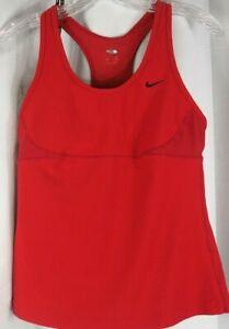 LOT Two Nike Womens Dri-Fit Tank Top Shelf Bra Yoga Athletic Workout M #315