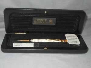 1995Parker Vintage Duofold Pearl and Black 0.7 mm Pencil--new in box