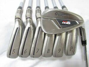 Used RH TaylorMade M6 Iron Set 5-P,A Regular Flex Steel Shafts