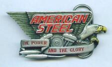 Gürtelschnalle Buckle  American Steel V-Twin Biker Motorrad