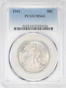 1943-P Walking Liberty Half Dollar PCGS MS 64 Blast White JO/982
