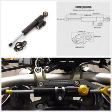 Black 25.5cm Motorcycles Steering Damper Stabilizer Safety Control CNC Aluminum