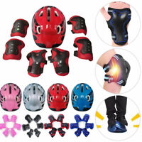 7stk Kinder Schutzausrüstung Protektoren Helm Handgelenke Knieschützer For Skate