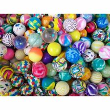 """1"""" 25x Rubber BOUNCING BALLS - Wholesale Assorted Bulk Lot FREE SHIPPING - NEW!!"""