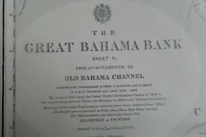 VINTAGE ADMIRALTY CHART 2009 THE GREAT BAHAMA BANK