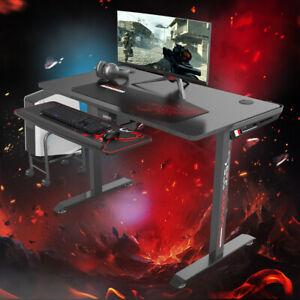 """Sale"" NEW Eureka I44 Ergonomic High Quality Solid Gaming Office Desk - Black"