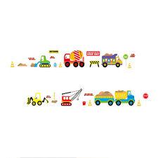 Digger building construction truck Cars stickers wall decals kids bedroom Q9J1