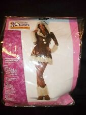 Womens Eskimo Kisses Faux-Fur Trim w/Boot Covers Size Medium M 8/10  Costume