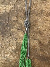 Silver Knot & Green Chain Tassel Necklace - NWT