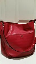 "orYany Red Leather  Shoulder Tote Hand Bag ""Cute"""