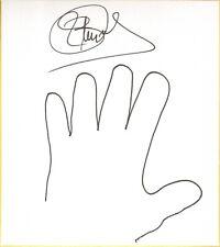 Blue Demon Jr Signed w/ Hand Sketch Shikishi Bas Beckett Coa Aaa Cmll Nwa Auto'd