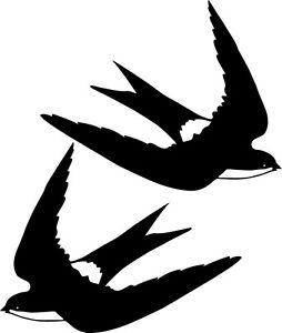 Window Wall Vehicle Display Swallow Bird Decal Vinyl Sticker Craft 002