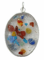 Multi-Stein ovale Form Orgon-Anhänger spirituelle Heilung Medaillon-cdj639a