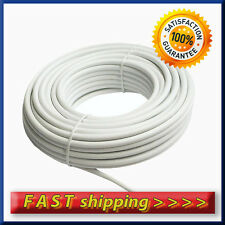 20m White Satellite TV Aerial Coax HD Digital Cable RG6 + 2 f-connectors free