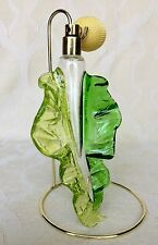 "LE Numbered Murano Atomizer Perfume Bottle Leaf Shaped 8.5"" By Carlo Moretti"
