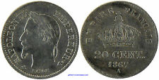 NAPOLEON III  , 20 CENTIMES  ARGENT  , 1867  A  PARIS