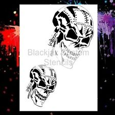 Bio Mech Skull Set Airbrush Stencil,Template