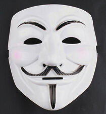 2pcs Hot Smile V FOR Vendetta Anonymous Movie Adult Guy Halloween Mask Cosplay