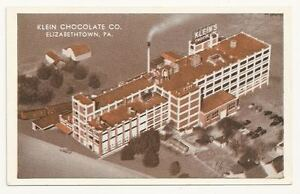 ELIZABETHTOWN PA Klein Chocolate Company Vtg Aerial PC