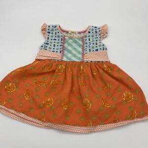 Matilda Jane -Tangy Shasta Top/Dress - Oranges, Ladybugs & Butterflies Size 4