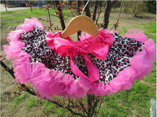 Kids Baby Girl Ruffle Pettiskirt Tutu Ballet Dance Skirt Short Dress Age 3-7Year