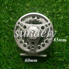 FAST SHIP Silver Aluminum Fly Fishing Reel 5/6 Left and Right Hand Retrieve 85mm
