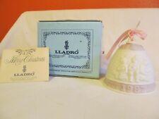 Lladro 1987 Christmas Bell Ornament In Original Box