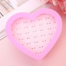 Ring Display Earring Storage Case Heart-shape Jewelry Box 36 Holes Ring Box