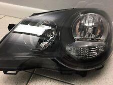 Black Headlight Front Lamp Fits Left VW Polo Hatchback 2005-2009