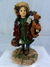 Boyds Bears Yesterday's Child - Candice W/ Matthew Apples - Figurine In Box