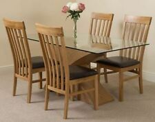 Oak Up to 4 Seats Fixed Dining Tables Sets