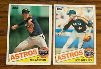 1985 Topps Set break #760 Nolan Ryan and #295 Joe Niekro - Astros