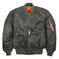 Brand New Alpha Industries MA-1 Bomber Jacket Rep Grey Large RRP £165