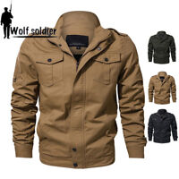 Mens MA-1 Jacket Military Pilot Air Force Bomber Jackets Coat Airborne Outwear