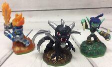 Skylanders Spyros Adventure The Dragon Giants Ignitor Stealth Elf & Base 3 pcs