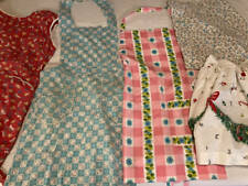Lot Of 5 Vintage Aprons 3 Full 2 Half Christmas + More