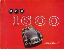 MG MGA 1600 Roadster & Coupe 1959-61 UK Market Sales Brochure